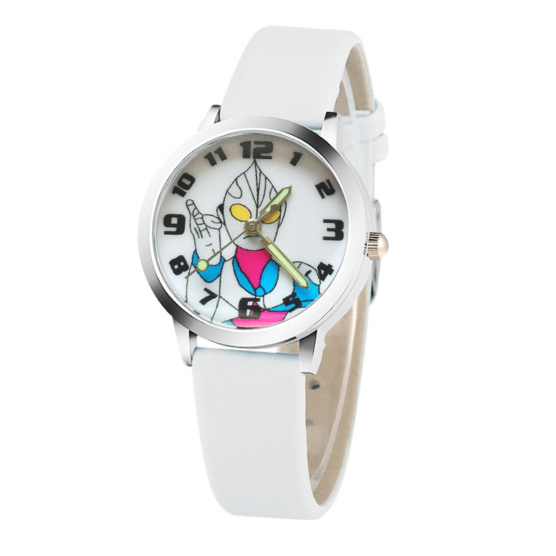 Cartoon Cute Brand Leather Quartz Digital Watch Children Fashion Girl Bracelet Watch Boy Sport Clock Relogio Masculino