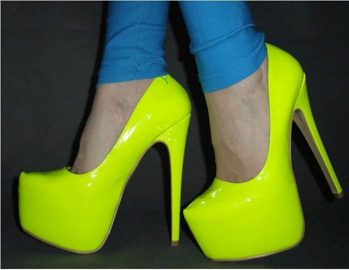 Solo Fgghgf Adecuado Para Bombas Descalzos Bodas Claro Los Amarillo Charol Red Con 16 verde Cm Mujeres Mujeres Y rosy Fiestas Pies Nuevas Zapatos rSprZ
