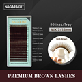 NAGARAKU mix 7~15mm,brown eyelash extension, brown lashes,brown eyelashes.