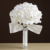 Maphia Wedding Bouquet 2017 Decoración Foamflowers Rosa de Raso Blanco de dama de Honor Flor Romántica Novia Ramos de Novia