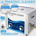 15 Литровый Ультразвуковой очиститель 540 Вт обогреватель таймер 40 кГц нержавеющая сталь для ванны пьезоэлектрический преобразователь PCB дос...