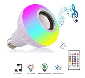 Image 3 - Bluetooth Music Lamp Smart E27  RGB  Wireless Speaker Bulb 220V 12W LED Light Audio Player Dimmable 24 Keys Remote Controller