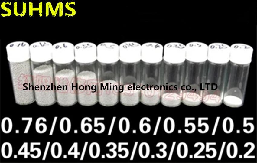( 25k ) 0.2mm /0.3mm/0.35mm/0.4mm/0.45mm/0.5mm/0.55/0.6mm/0.65mm/0.76mm Leaded Soldering Balls BGA Solder Balls