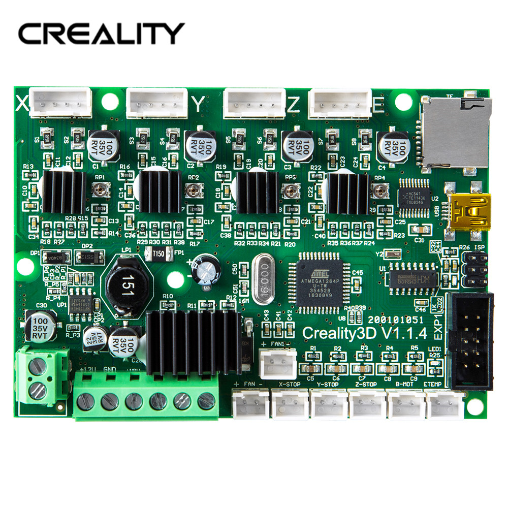 Original Factory Supply Creality 3D Newest Upgrade Motherboard Silent 1.1.4 Mainboard For Ender-3/Ender-3Pro 3D PrinterOriginal Factory Supply Creality 3D Newest Upgrade Motherboard Silent 1.1.4 Mainboard For Ender-3/Ender-3Pro 3D Printer