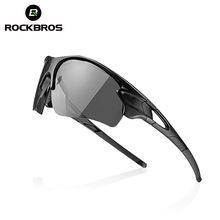 ROCKBROS Polarized Photochromic Cycling Glasses Men Women Outdoor Sports Running MTB Bike Sunglasses Myopia Frame Eyewear K6314