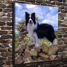 A0455 Natrliche Landschaft Dschungel Tiere Hund Hd Leinwand Druck Dekoration Wohnzimmer Schlafzimmer Wandbilder Malerei