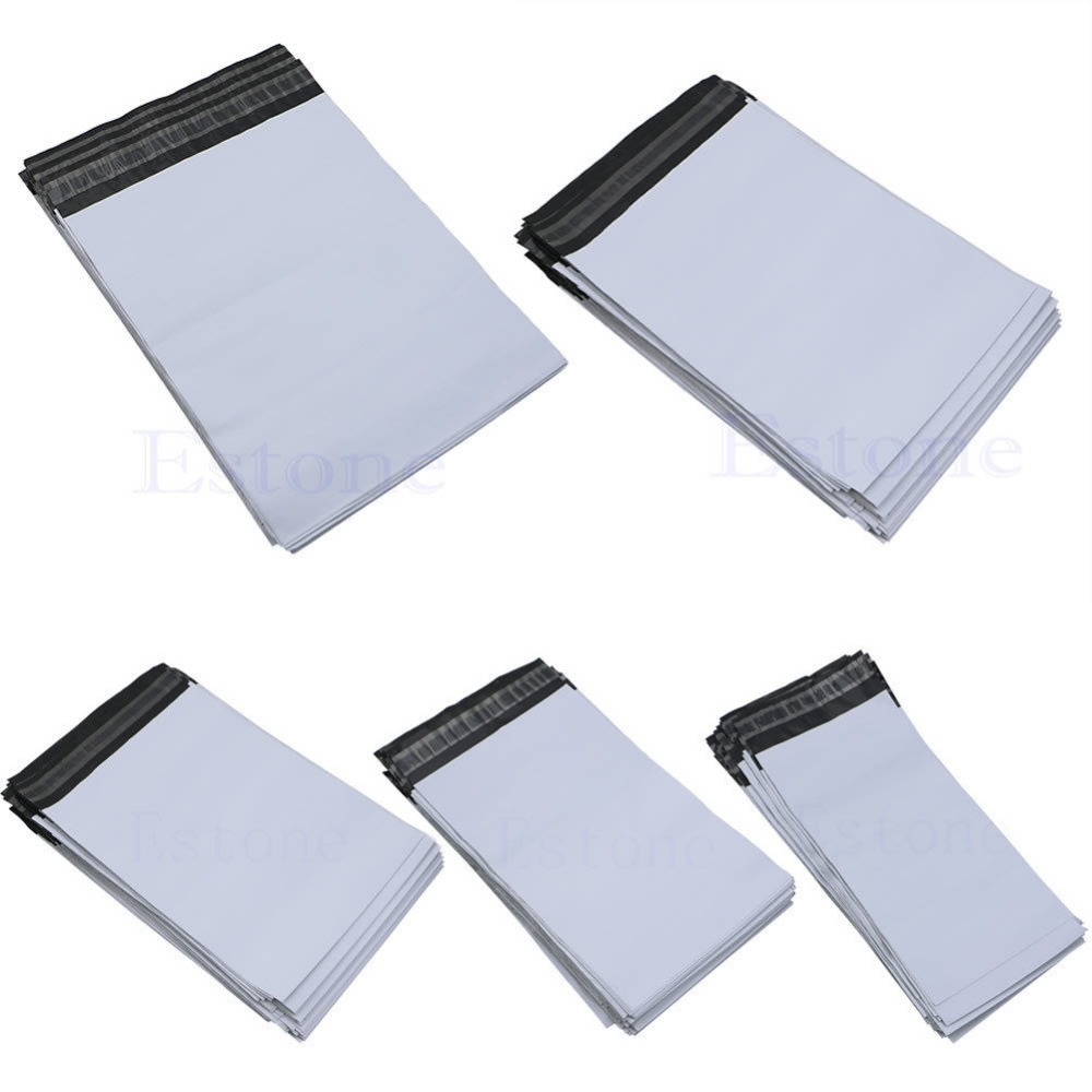 Lot 100Pcs   5 Sizes Poly Mailer Self Sealing Plastic Shipping Mailing Bag Polybag интегральная микросхема hifi remote volume control preamp