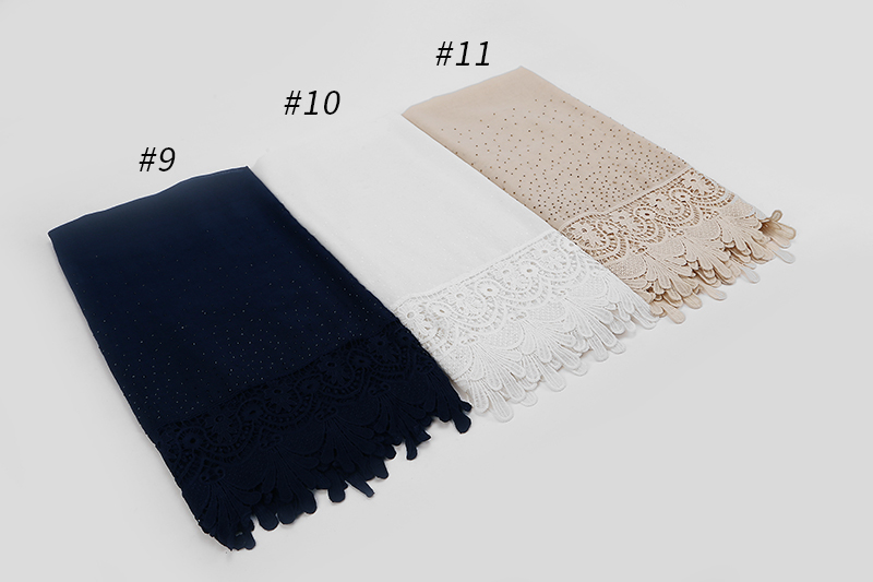1PC New cotton Fashion lace scarf hijab floral embroidery and shinny beach scarf long muslim autumn wrap scarves shawls in Women 39 s Scarves from Apparel Accessories
