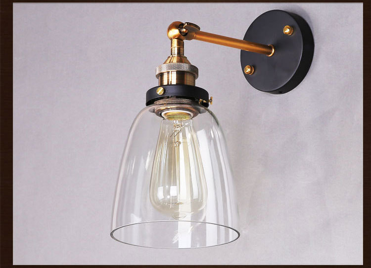 Vintage Glass Wall Lamp Light Modern Sconce Fixtures Lighting Free Retro Bulb Bedroom modern lamp trophy wall lamp wall lamp bed lighting bedside wall lamp