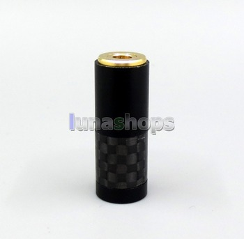 LN006285 CYH-Series High Quality Black Carbon Barrel 3.5mm 4 Poles Female Custom DIY Adapter