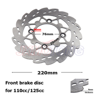 220mm steel dirt bike disc rotor Front brake disc for 110cc/125cc Pit bike parts Cheap Mini motocross brake rotor