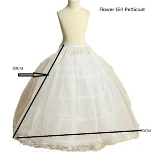 Image 4 - ruthshen New Arrival Flower Girls Petticoat 4 Hoop With Lace Appliques Little Kids Ball Gown Dress Underskirt Accessories