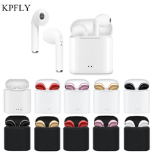 KPFLY i7S TWS мини беспроводные наушники Bluetooth наушники стерео вкладыши камуфляж гарнитура с зарядным устройством Micphone Спорт для iPhone