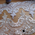 Lace Trim for veils wedding evening dress accessory in White Ivory Red sold in yard LYN001