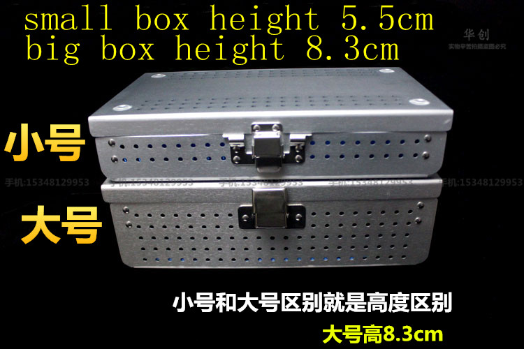 Image 3 - Medical orthopedic dentel Surgical instrument aluminium alloy Storage Sterilizing box HTHP materials case with HTHP silicone pad-in Braces & Supports from Beauty & Health