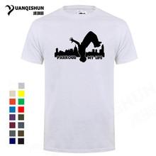 Hip Hop 2018 New Fashion Men T Shirt Parkour my life City Print T-shirt High Quality 16 Colors 100% Cotton Comfortable Tops Tee