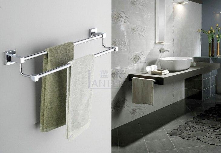 Blue Rattan Bathroom Double Towel Rack Stainless Steel Alloy Bathroom Towel  Hanging Bath Towel Rack In Towel Bars From Home Improvement On  Aliexpress.com ...