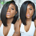 8A Virgin Brazilian Human Hair U Part Bob Wig 1x4inch Left Side Part Short Cut Upart Wigs For Black Women U Part Wig Human Hair