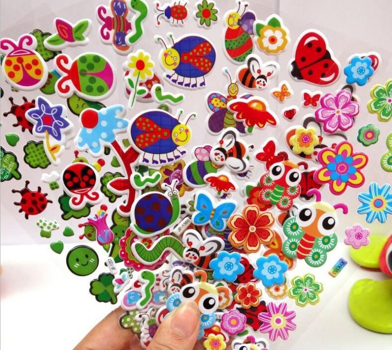 50pcs / lot niños pegatinas juguetes clásicos patrones mixtos para - Juguetes clásicos - foto 2