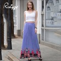 RUIYIGE печати цветочный vintage партия бальное платье 50 s 70 s плюс размер пром бизнес работа пляж ретро mxi длинные летние новые юбки