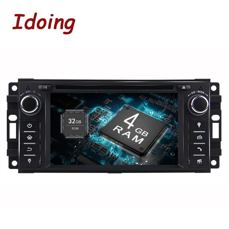 Idoing Android8.0Oreo 1Din Car DVD Player For Jeep Sebring/Grand/Cherokee/Compass/Wrangler Steering Wheel 8Core 4G+32G Fast Boot new power steering pump for car jeep grand cherokee suv 2 7 crd 4x4 diesel