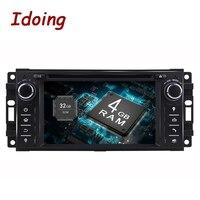 Idoing Android8.0Oreo 1Din Samochodowy Odtwarzacz DVD Dla Sebring Jeep/Grand/Cherokee/Kompas/Wrangler Kierownicy 8 rdzeń 4G + 32G Szybki Boot