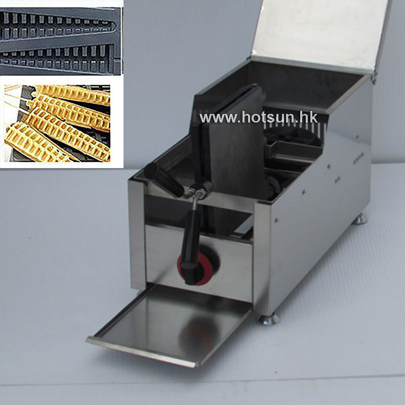 Commercial LPG Gas Rotating Lolly Waffle Iron Maker Baker Machine