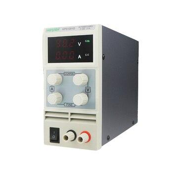 цена на KPS1201D Adjustable High precision double LED display switch DC Power Supply protection function 120V1A 110V/220V 0.1V/0.01A EU