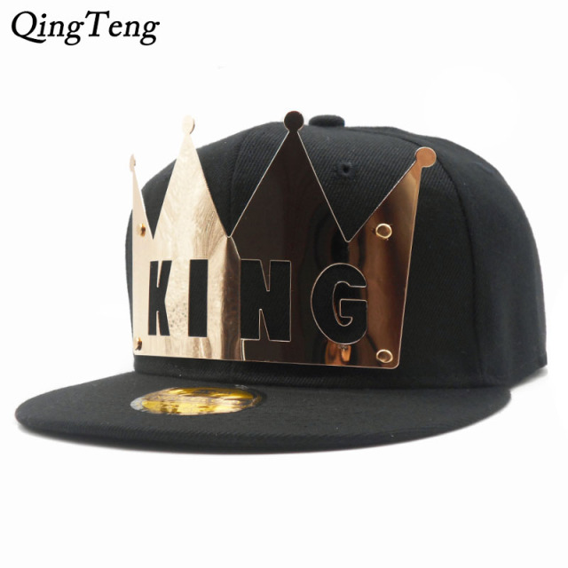 e6d07a1939a69 Punk Iron Sheet REGINA KING Baseball Cap Gorras Planas Hip Hop 2018 Letter  QUEEN Snapback Caps Lovers Sun Hat