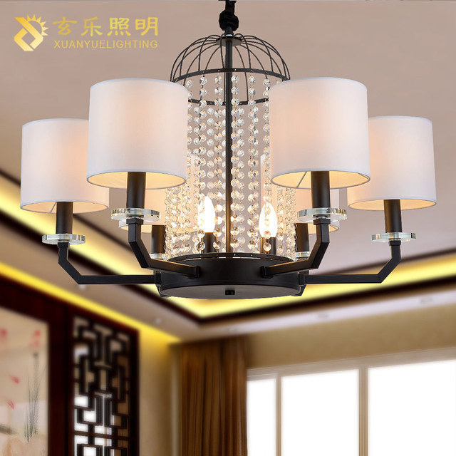 Us 439 04 Lighting The New Chinese Iron Chandelier Living Room Restaurant Bar Fixtures Personality Lamp Shade In Pendant Lights