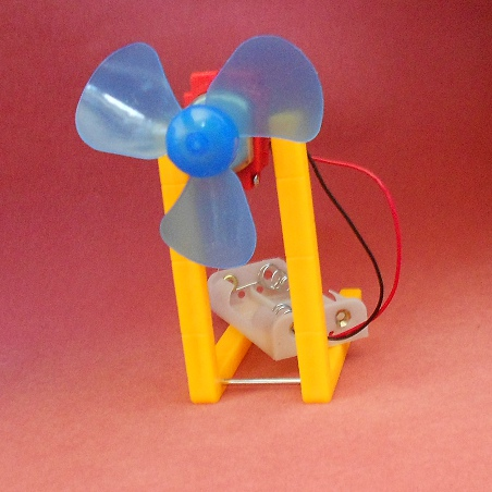 Homemade fan diy small production technology material on