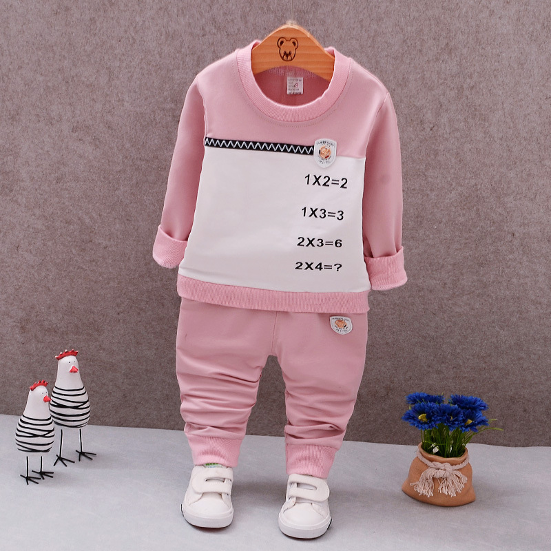 2017 Baby Clothing Sets Spring Autumn Baby Boys girls Clothes Long Sleeve T-shirt+Pants 2Pcs Suits Cat Children Clothing