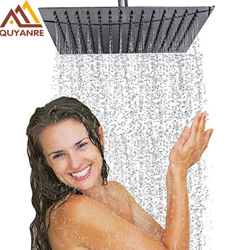 Chrom Ultradünne Showe Kopf Dusche Wasserhahn Zubehör 10