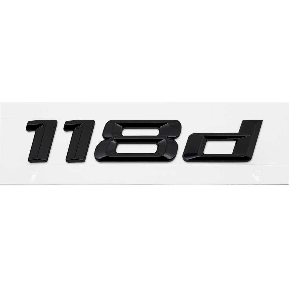 ل BMW ملصق البلاستيك الخلفية جذع خطابات الأسود 116d 118d مناسبة ل BMW F20 E87 3M الغراء ملصق سيارة الديكور