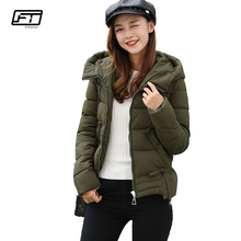 Fitaylor 2017 Hot Sale Winter Jacket Women Coat Hooded Parka Mujer Down Cotton Short Overcoat Solid Loose Warm Jackets Coats