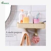 Kreative Platzsparend Wand Regal PP Halter Für Badezimmer Küche Closes Solide Halter Shampoo Bad Werkzeuge Zu Wc