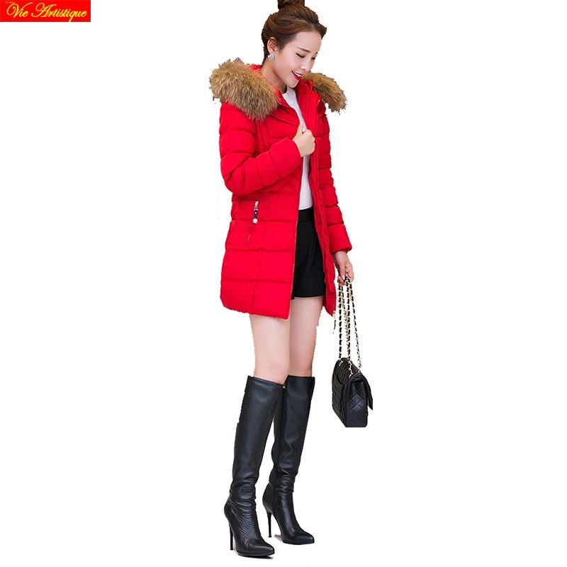 parka women winter coats and jackets long parka femme parka warm winter coat women outerwear black red navy green fur collar