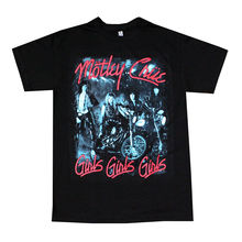 Motley Crue Girls Mens T-Shirt Black O-Neck Fashion Casual High Quality Print T Shirt Men Cool Tees Tops