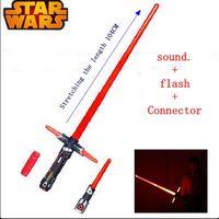104 cm Star Wars Lichtschwert Led Blinkt Stimmgebung Waffen Action Figur Star Wars Darth Vader Kraft awakening kinder spielzeug
