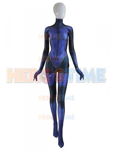 Custom Made Jill Valentine Costume Spandex 3D Printing Resident Evil Girl Cosplay Superhero Costume Halloween Zentai body suit