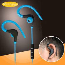 Honsigogo Running Bluetooth Earphone Wireless Stereo Earbuds Sports Sweat Proof Ear-hook Earphones for samsung iphone Huawei