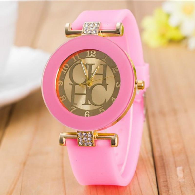 High Quality Fashion Rhinestone Women Watches 2019 Luxury Brand Silicone Strap Women Quartz Watch Dress Wristwatch Reloj Mujer