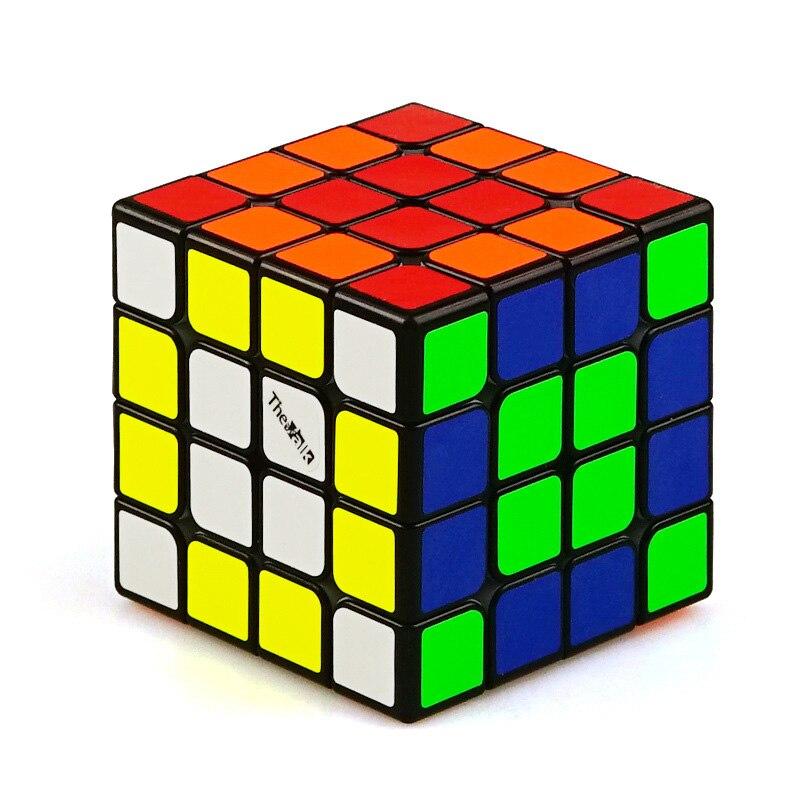 QIYI Mini Cube magique magnétique 4x4x4 Valk 4 M Magico Cubo éducation puzzle Profession multicolore noir types pour 4X4 Cubos jouets