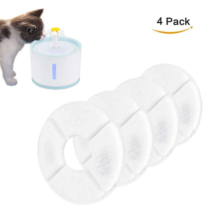 4PCS Activated Carbon สำหรับแมวอัตโนมัติสุนัขน้ำพุ Feeder เปลี่ยนเครื่องดื่มกรอง Core อุปกรณ์เสริม