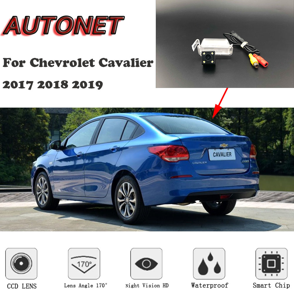 AUTONET HD Night Vision Backup Rear View Camera For Chevrolet Cavalier 2017 2018 2019 CCD/license Plate Camera