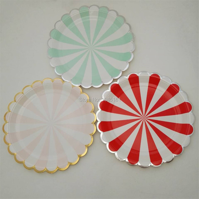 ipalmay Free Ship Gold Silver Foil Party Paper Food Tray 9inch\u00267inch Disposable Plates Pink Red Mint & ipalmay Free Ship Gold Silver Foil Party Paper Food Tray 9inch\u00267inch ...
