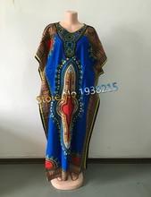 Приятно африканские традиционных африканских dashiki вышитые шеи печати одежды дизайн платья