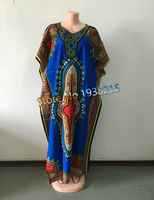 Hot Sale 2015 New Fashion Design Traditional African Clothing Print Dashiki Wave Neck Embroidered African Dresses