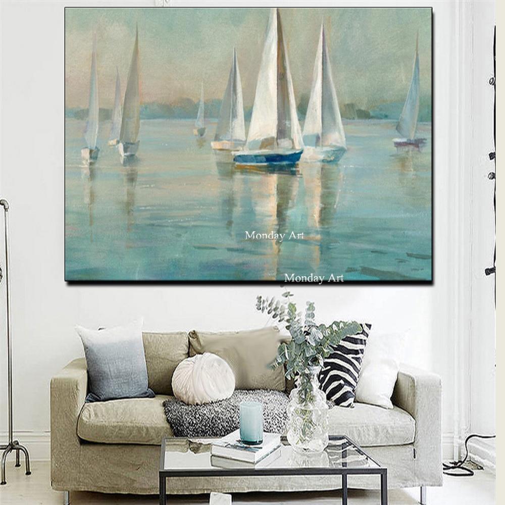 Drop-shippi1ture-for-Living-Room-Boat-Sea