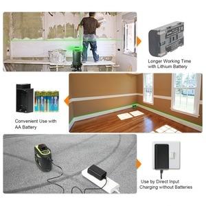 Image 3 - Huepar 8 linii Green Beam 3D Laser krzyżowy poziom samopoziomujący 360 pionowe i poziome ładowanie USB użyj akumulatora suchego i litowo jonowego